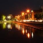 Slavuta at night (photographer Serhiy Sukhov)